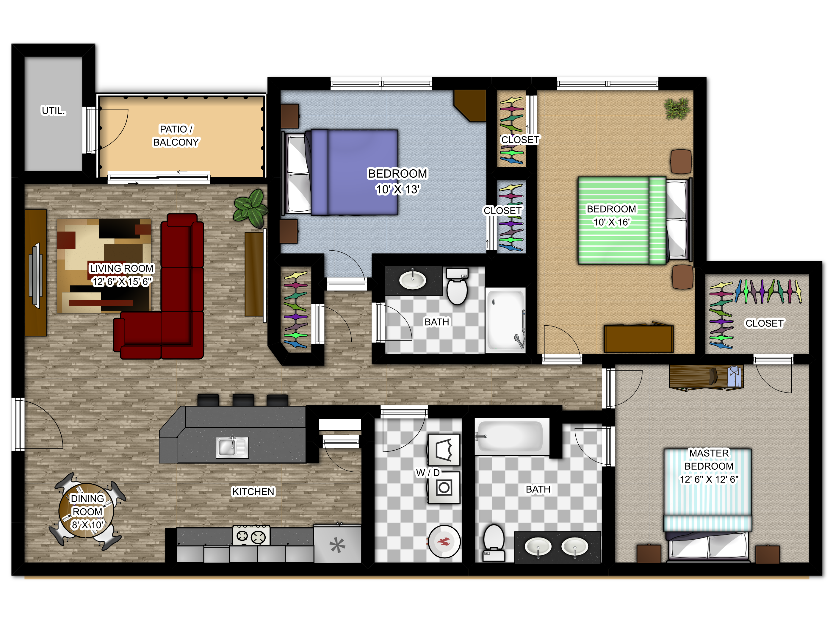 Meadowood Apartments Floor Plans - The Cahteau