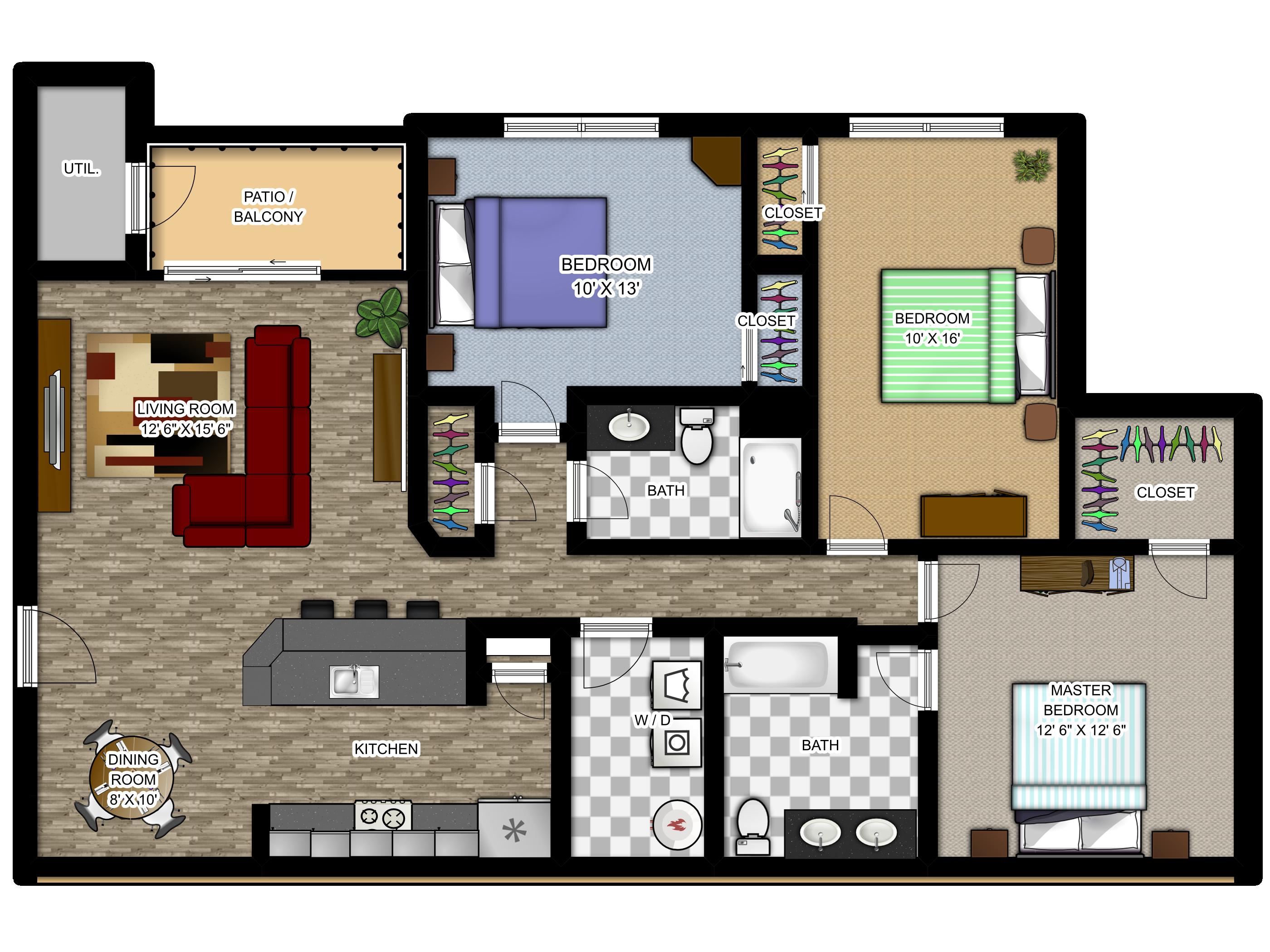 Meadowood Apartments Floor Plans - The Cahteau