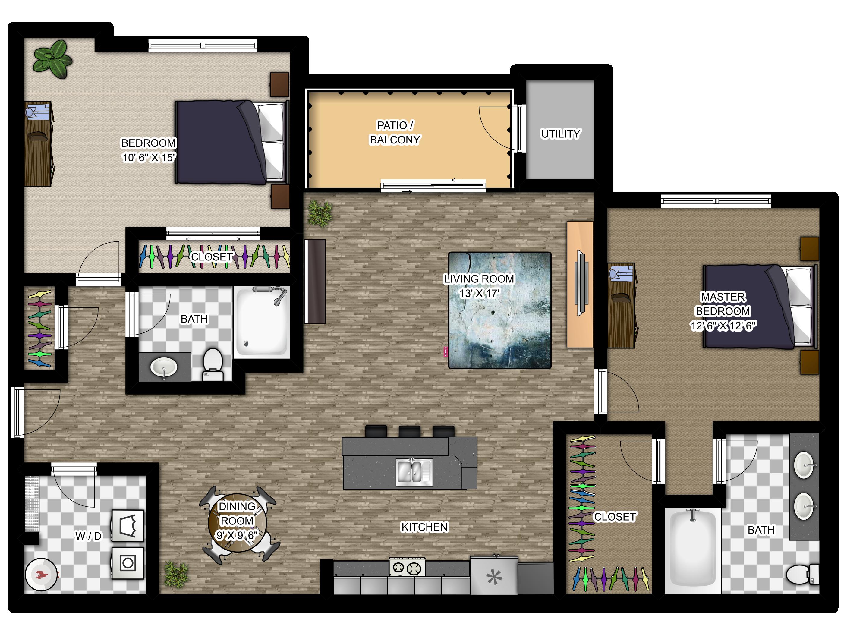 Meadowood Apartments Floor Plans The Vintage